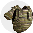 Fabrics for means individual armor